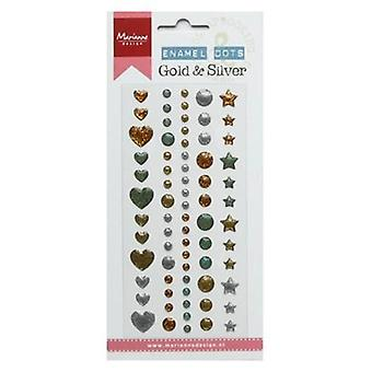 Marianne Design Decoration Enamel dots - Gold & silver PL4510