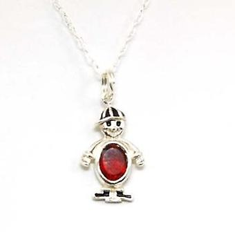 Toc Sterling Silver Kids Cheeky Brother Pendant on 16 Inch Chain