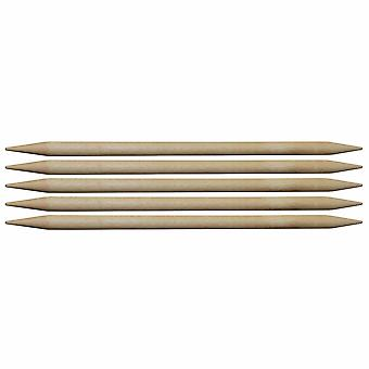 Knitpro Basix Birch: Knitting Pins: Double-Ended: Set of Five: 20cm x 3.25mm