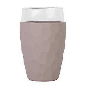 CREADYS Glass with Silicon Sleeve 600ml in Grey
