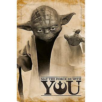 Star Wars Yoda kan kraften være med dig Maxi Plakat