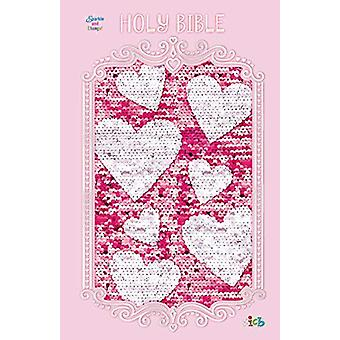 ICB - Sequin Sparkle and Change Bible - Hardcover - Pink by Thomas Ne