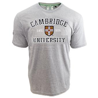 Licensed unisex cambridge university™ applique embroidery t shirt grey