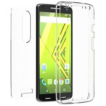 MOTOROLA DROID TURBO 2 BEYOND CELL TRIMAX SERIES CASE - CLEAR