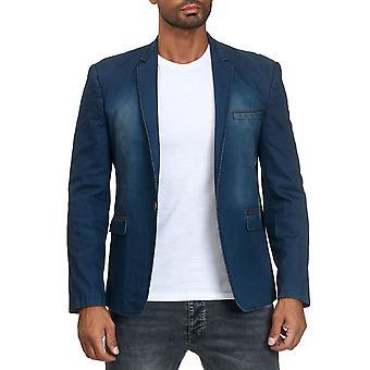 Veste Homme Jean Veste Blazer Costume Veste Utilisé Lavé Tailored Fit Casual Business