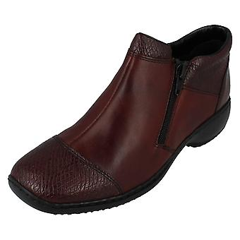 Ladies Rieker Zip Fastening Ankle Boots L3897