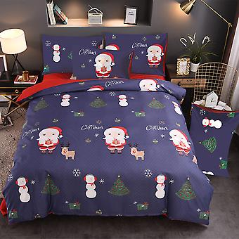 Red Christmas Printed Bedding Set