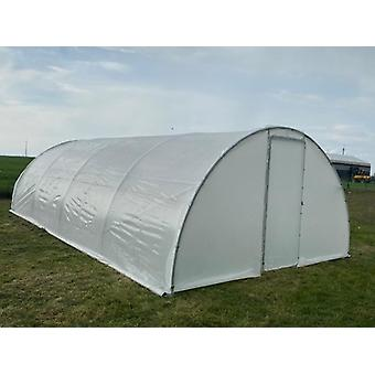 Polytunnel broeikas 4x8m, 32m², 150Mic, Lichtdoorlatend
