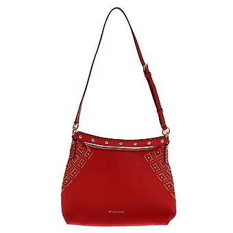 Red aria leather shoulder bag