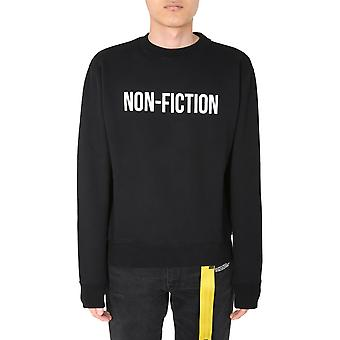 Off-white Omba025e20fle0071001 Men's Black Cotton Sweatshirt