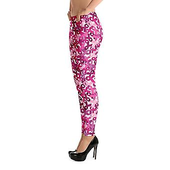 Fashion leggings | fancy | pink ribbons
