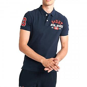 Superdry Classic Superstate Pique S / S Antal Polo Navy 98T