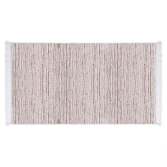 Holz 7 Creme Farbe gedruckt Teppich, Micro Gedruckt Polyamed Braun, L80xP120 cm