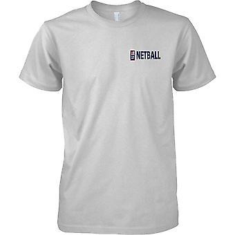 RN Netball Logo 1 - Royal Navy Sport T-Shirt Farbe