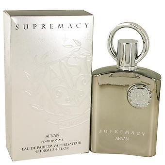 Supremacy Silver Eau De Parfum Spray By Afnan 3.4 oz Eau De Parfum Spray
