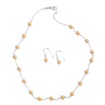 J Francis Crystal from Swarovski Pearl Crystal Necklace and Earrings in Silver