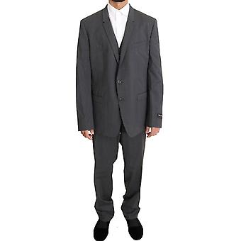 Dolce & Gabbana Gray Wool Stretch Slim Fit GOLD Pak