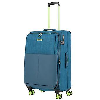 travelite Proof Trolley M, 4 rullar, 68 cm, 61 L, turkos