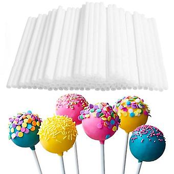 80pc/lot 10cm Disposal Lollipop Sticks For Candy Pops - Non Toxic Food Grade Plastic Sucker Tubes Sticks For Chocolate Cake