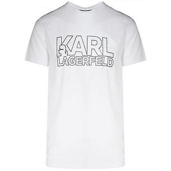 Lagerfeld White Chest Logo T-Shirt