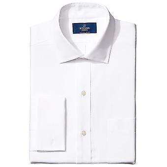 BUTTONED DOWN Men's Classic Fit French Cuff Spread-Collar, Wit, Maat 16.5