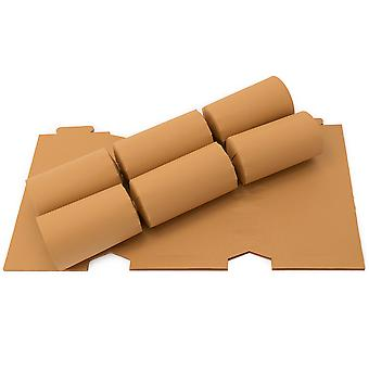 12 Tan Brown Make & Fill Your Own DIY Recyclable Christmas Cracker Boards