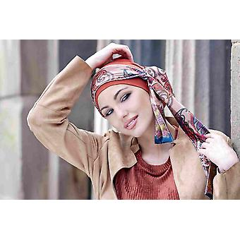 Sjaals voor haaruitval | Yanna Brick Velvet Roze Paisley