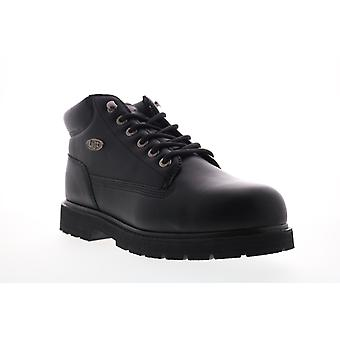 Lugz Drifter Mid Steel Toe Mens Black Lace Up Ankle Boots