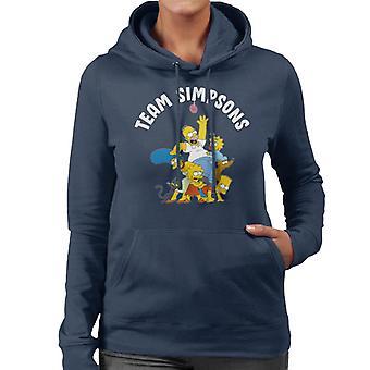 The Simpsons Family Team Women's Hooded Sweatshirt