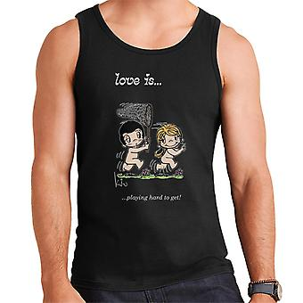 Love Is Playing Hard To Get Men's Vest