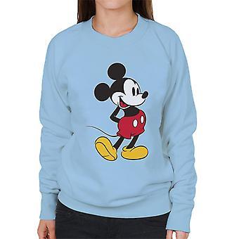 Disney Mickey hiiri nostaa jalka naisten ' s College pusero