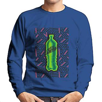 Mountain Dew Bottle Pattern Men's Sweatshirt