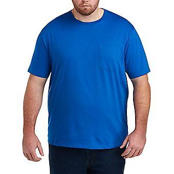 Essentials Men's Big & Tall 2-Pack Short-Sleeve Crewneck T-Shirt fit b...