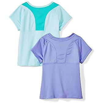 Spotted Zebra Little Girls' 2-Pack Active Short-Sleeve T-Shirts, Heart, Small...