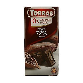 توراس الشوكولاته 72٪ الكاكاو دون سكر 75 غرام