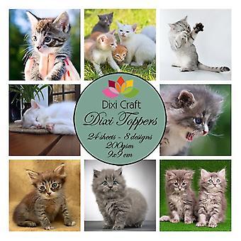 Dixi Craft Dixi Toppers 9x9cm Cats