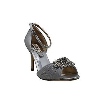 Badgley Mischka Women's Sabrina II Heeled Sandal, Silver, 7 M US