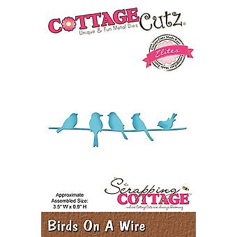 Scrapping Cottage CottageCutz Birds On A Wire