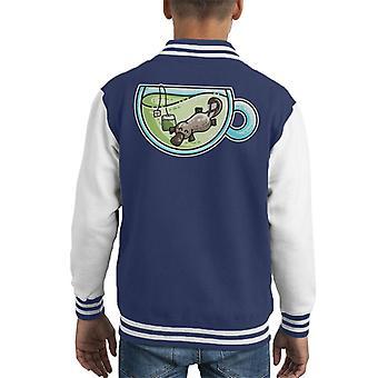 Plateapus Platypus Tea Pun Kid's Varsity Jacket