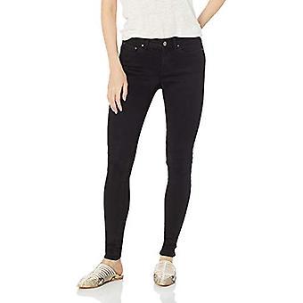 Marca - Daily Ritual Women's Mid-Rise Skinny Jean, Black, 25 (0) Regular
