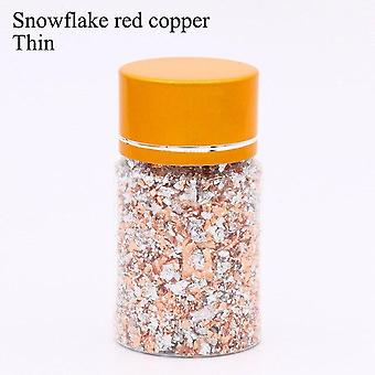 Gold Leaf Flakes Copper - Flakes For Gliding Arts Crafts  Decoration  Silver/copper/gold Foil Fragments