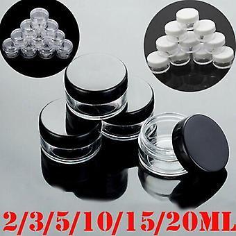 Empty Plastic Cosmetic Jars - Makeup Container Lotion Bottle