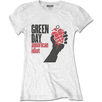 Κυρίες Πράσινη Ημέρα Αμερικανική Ηλίθιος Επίσημη Tee T-Shirt Γυναίκα