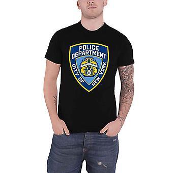 New York City T Shirt Police Dept Badge new Official Mens Black