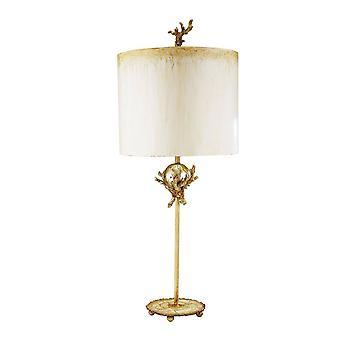 Elstead Treillis - 1 Lampe de table légère Argent, Putty, E27