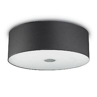 Ihanteellinen Lux Woody - 5 kevyt suuri katto huuhtelu musta, E27