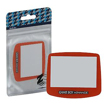 Replacement screen lens plastic cover for nintendo game boy advance - orange