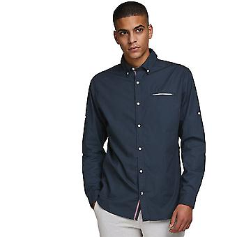 Jack & Jones Mens Button Down Smart Linnen shirt