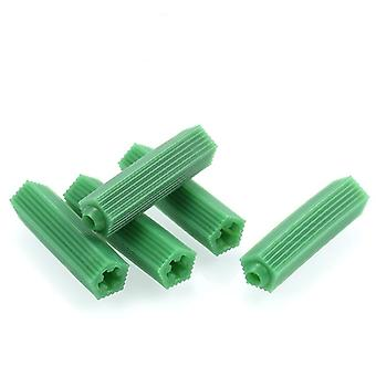 Green Masonry Screw Fixing Wall Anchor Expansion Tube Drywall Plastic Anchor Plug Drill Dry