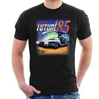 Takaisin tulevaisuuteen Delorean 85 Electric Charge Men's T-paita